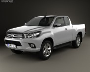 3D model of Toyota Hilux Extra Cab SR 2015