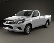 3D model of Toyota Hilux Single Cab SR 2015