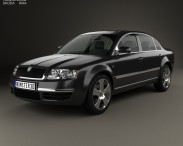 3D model of Skoda Superb 2001