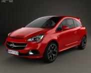 3D model of Opel Corsa E OPC 2015