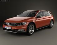 3D model of Volkswagen Passat (B8) Alltrack 2016
