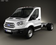 3D model of Ford Transit Cab Chassis 2014
