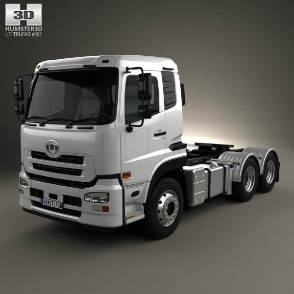 3D model of UD Trucks Quon GW Tractor Truck 2010