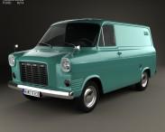 3D model of Ford Transit Panel Van 1965