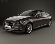 3D model of Hyundai Genesis (DH) with HQ interior 2014