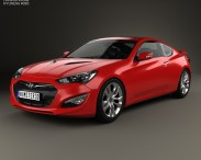 3D model of Hyundai Genesis coupe with HQ interior 2014