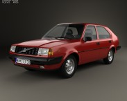 3D model of Volvo 345 5-door 1980