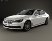 3D model of BMW 7 Series (G11) 2015