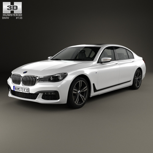 bmw 7 series g12 l m sport package 2015 3d model humster3d. Black Bedroom Furniture Sets. Home Design Ideas