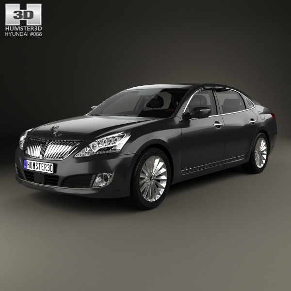 3D model of Hyundai Equus (Centennial) with HQ interior 2014
