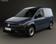3D model of Volkswagen Caddy Panel Van 2015