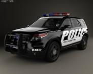 3D model of Ford Explorer Police Interceptor Utility 2010