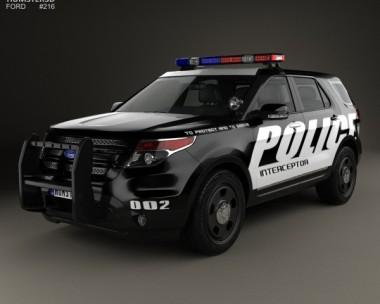 3D model of Ford Explorer Police Interceptor Utility 2010