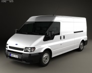 3D model of Ford Transit Panel Van 2000