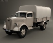 3D model of Opel Blitz Flatbed Truck 1940