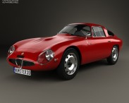 3D model of Alfa Romeo Giulia TZ (105) 1963