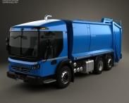 3D model of Dennis Eagle Elite 6 Olympus Refuse Truck 2013
