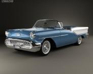 3D model of Oldsmobile Starfire 98 Convertible 1957