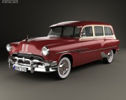 3D model of Pontiac Chieftain Deluxe Station Wagon 1953