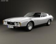 3D model of Jaguar Bertone Pirana 1967