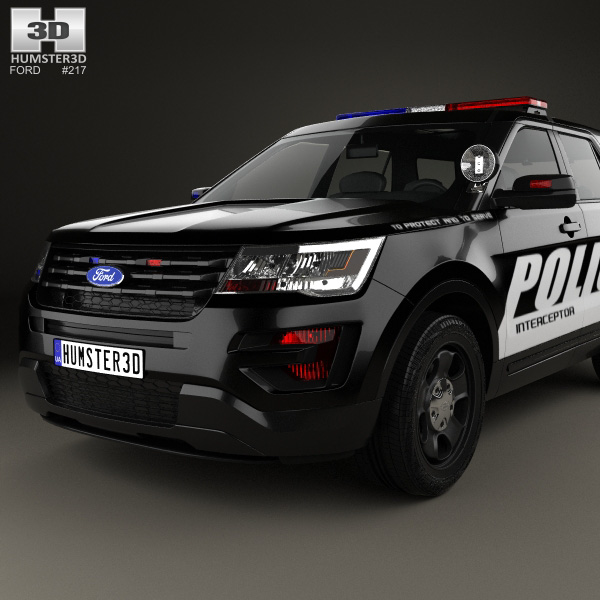 ford explorer police interceptor utility 2016 3d model humster3d. Cars Review. Best American Auto & Cars Review