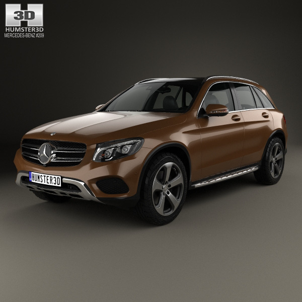 3D model of Mercedes-Benz GLC-Class (X205) 2015
