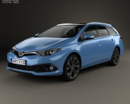 3D model of Toyota Auris Touring Sports Hybrid 2015