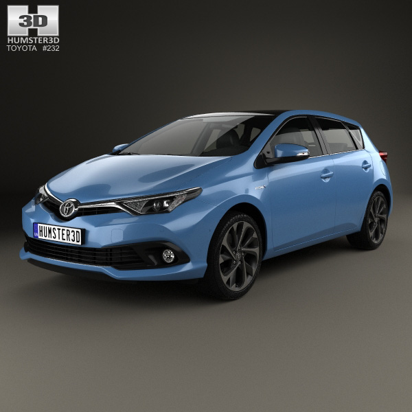 toyota auris hatchback hybrid 2015 3d model humster3d. Black Bedroom Furniture Sets. Home Design Ideas