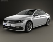 3D model of Volkswagen Passat R-line (B8) sedan 2015