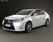 3D model of Lexus HS 2014