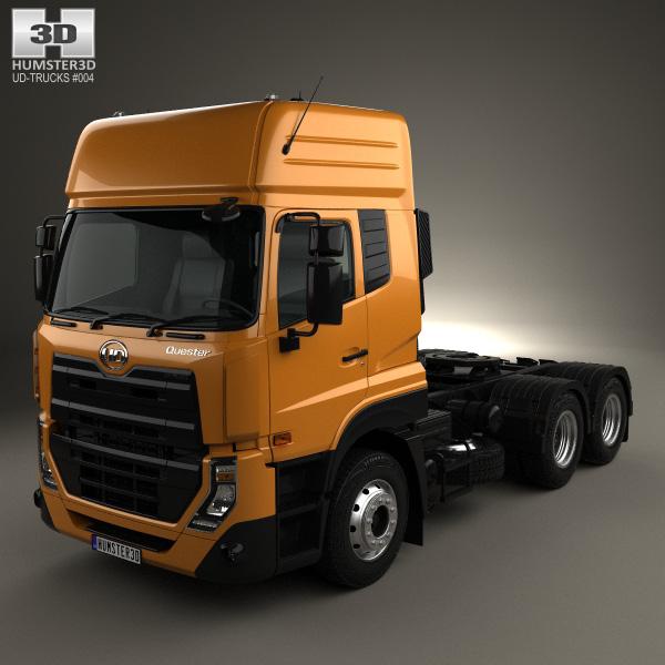 3D model of UD Trucks Quester Tractor Truck 2013