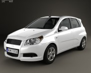 3D model of ZAZ Vida Hatchback 2012