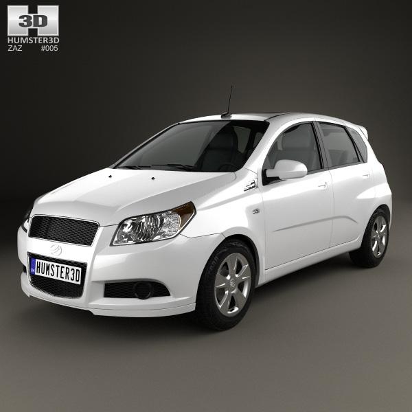 3D model of ZAZ Vida Hatchback 2012