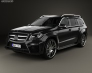 3D model of Mercedes-Benz GL-Class X166 Brabus B63 2013
