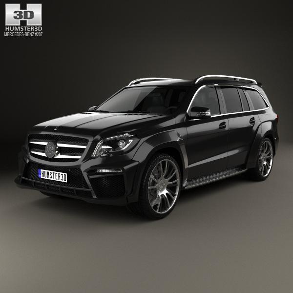 3D model of Mercedes-Benz GL-Class X166 Brabus B63 2013