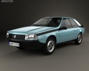 3D model of Renault Fuego 1980