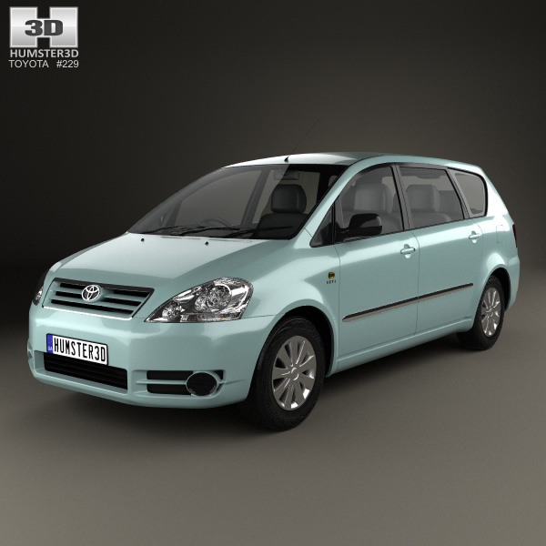 3D model of Toyota Avensis Verso 2001