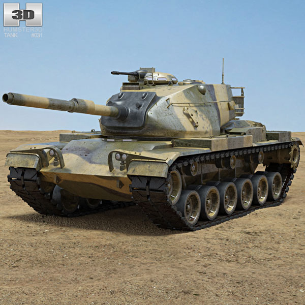 3D model of M60 Patton