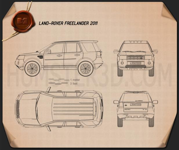 Land Rover Freelander 2 Lr2 3d Model: Land Rover Freelander 2 (LR2) Blueprint Blueprint