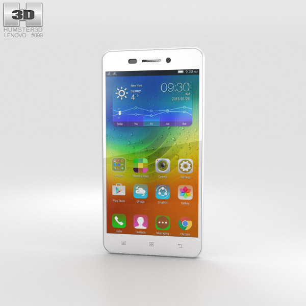 3D model of Lenovo S60 Pearl White