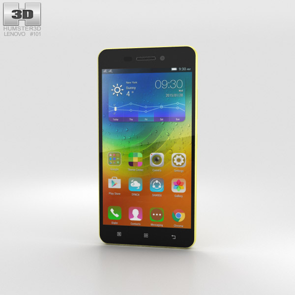 3D model of Lenovo S60 Yellow