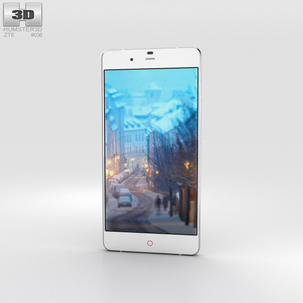 3D model of ZTE Nubia My Prague Silver