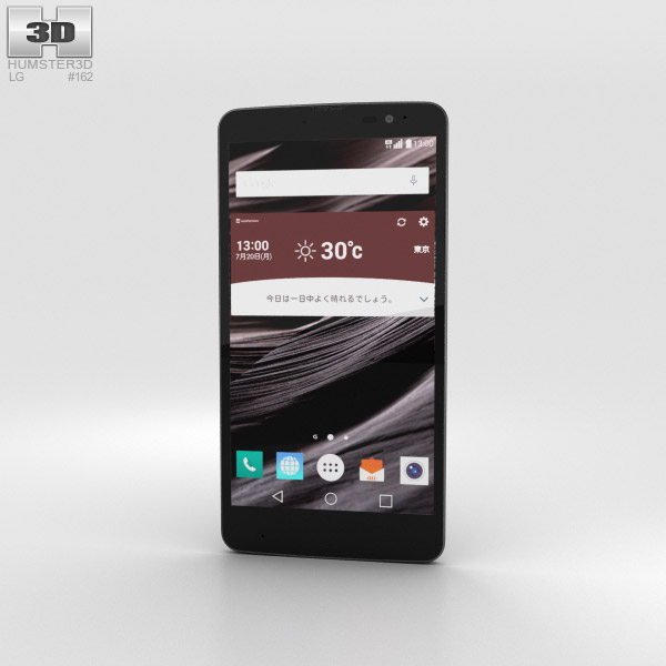 3D model of LG Isai Vivid LGV32 Black