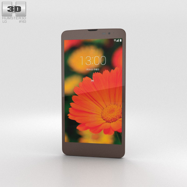 3D model of LG Isai Vivid LGV32 Gold