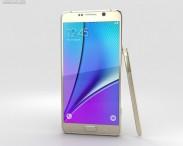 3D model of Samsung Galaxy Note 5 Gold Platinum