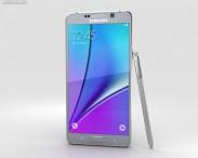 3D model of Samsung Galaxy Note 5 Silver Titan