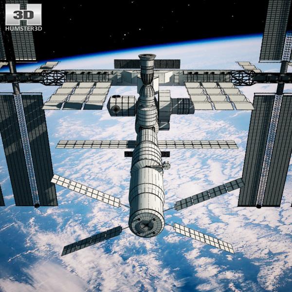 International space station 3d model humster3d for Space station 13 3d