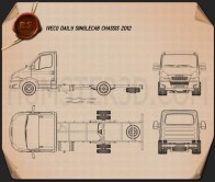 Iveco Daily Single Cab Chassis 2012 Blueprint