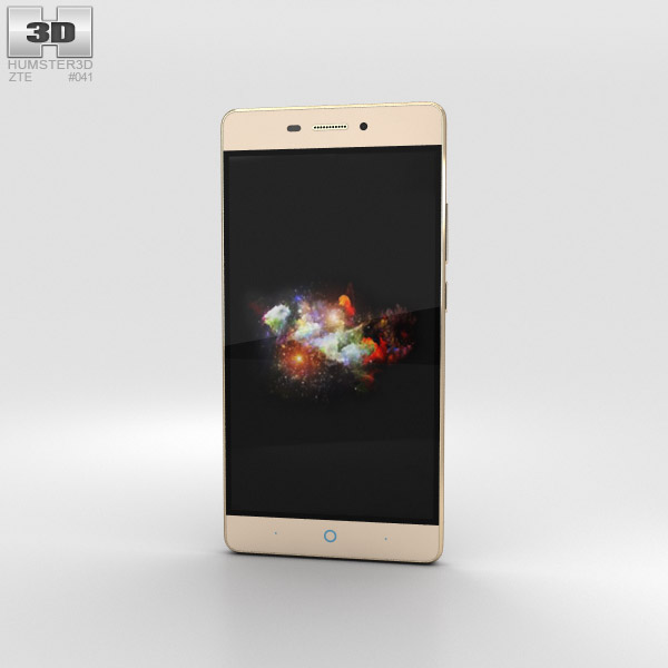3D model of ZTE V3 Extreme Edition Gold