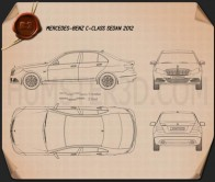 Mercedes-Benz C-class sedan 2012 Blueprint